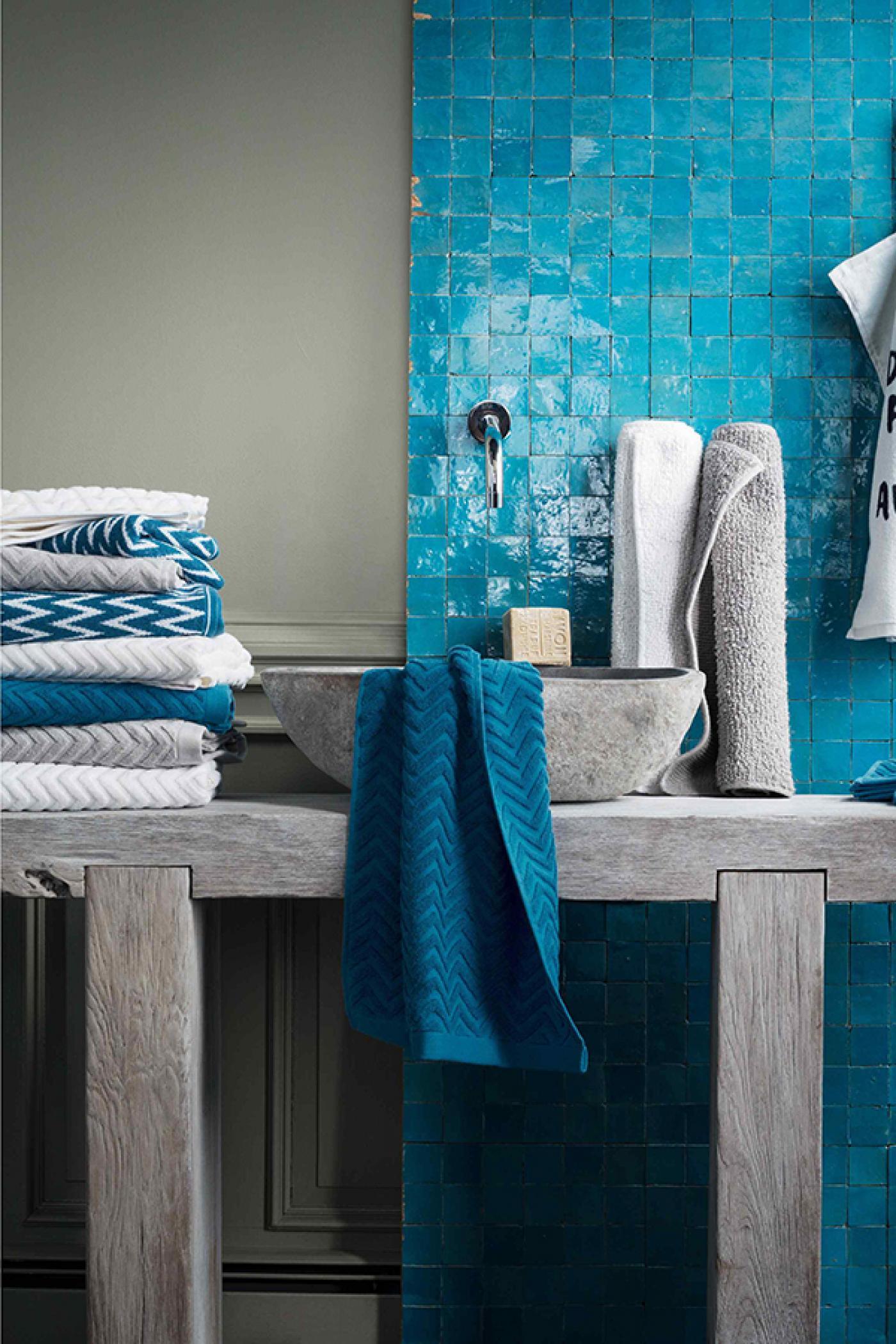 A klasszikusan elegáns fürdőszoba: kék és fehér - Lakáskultúra magazin