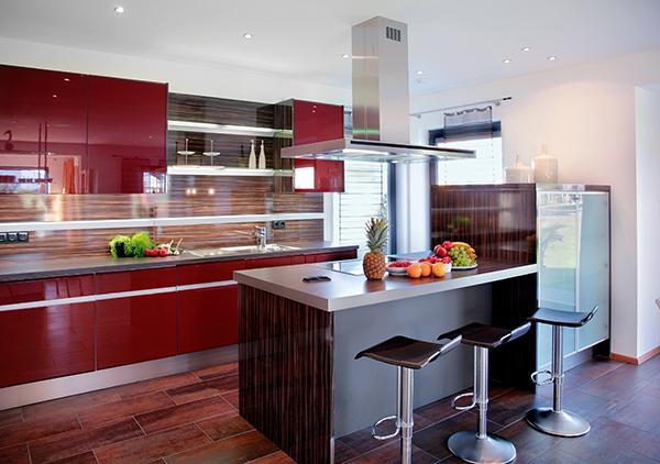 Piros a konyhában - Lakáskultúra magazin