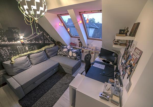 Modern tetőtéri lakás Zuglóban - Lakáskultúra magazin