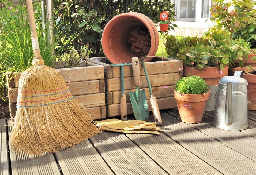takarítás, terasz