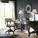 lakberendezés, dolgozószoba, textillámpa, DIY, fényforrás, rusztikus, country stílus