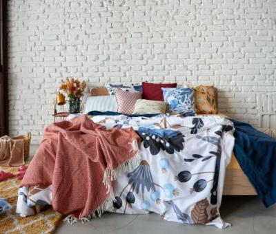 lakberendezés, hálószoba, bohém stílus, alvás, dekoráció, kiegészítők