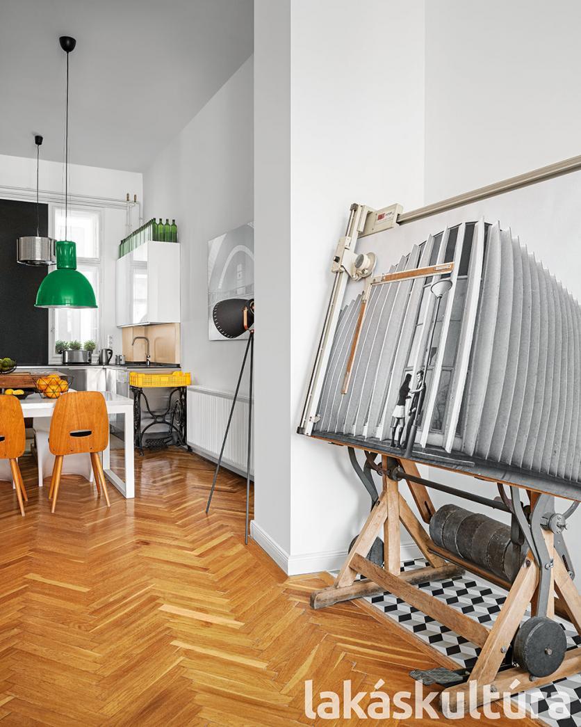 retró, indusztriális, otthon, lakásátalakítás, nagypolgári stílus, bérház