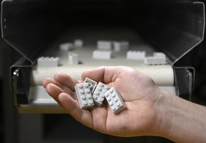 Újrahasznosított műanyag LEGO
