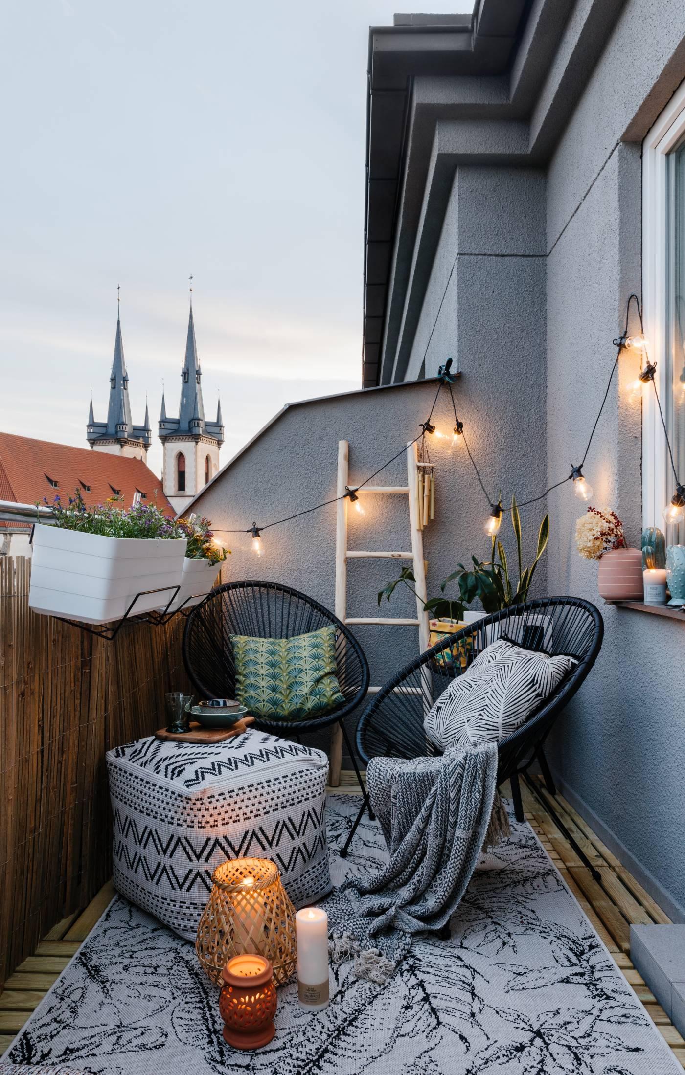 bohém erkély