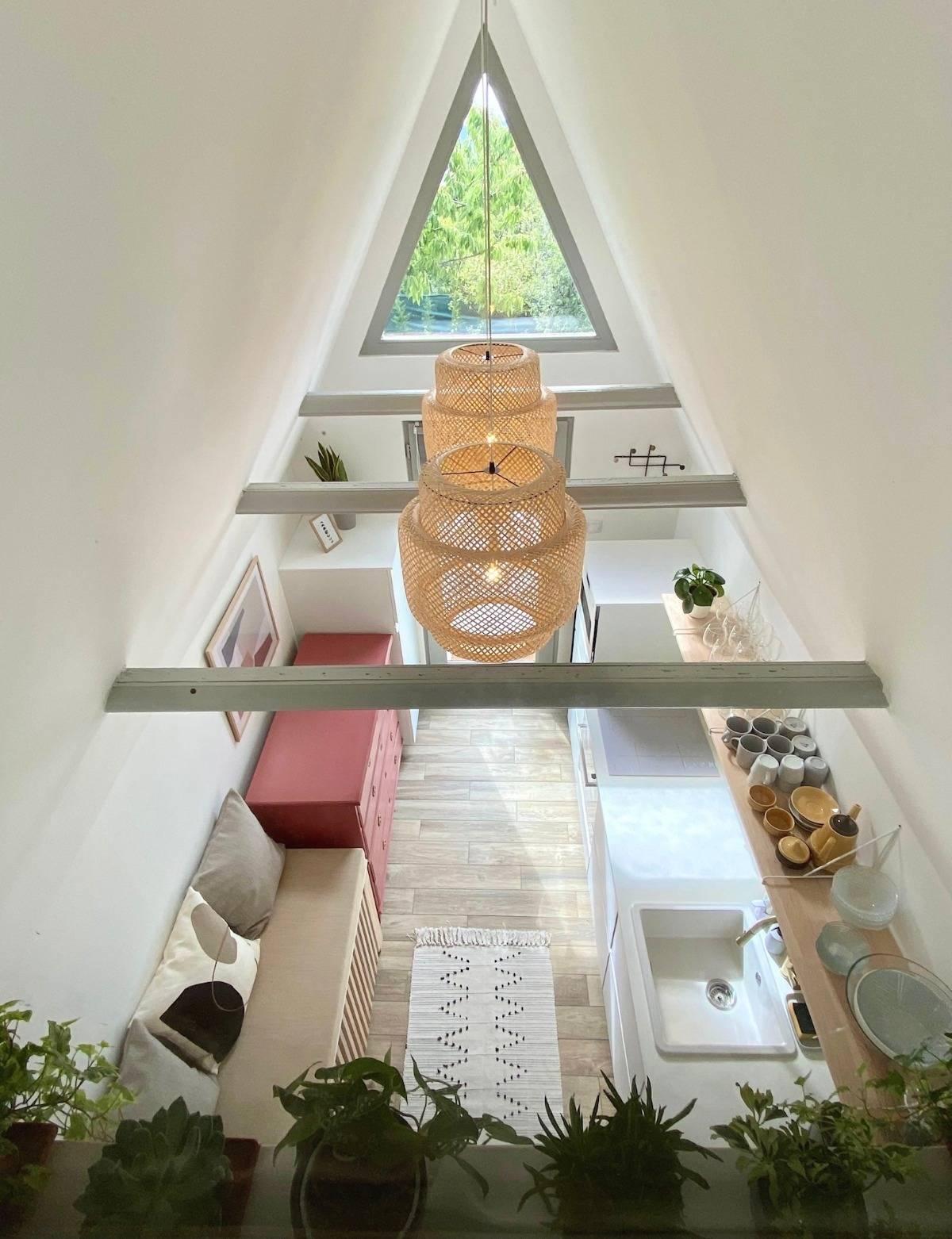 konyha, kabin, szürke konyha, szőnyeg
