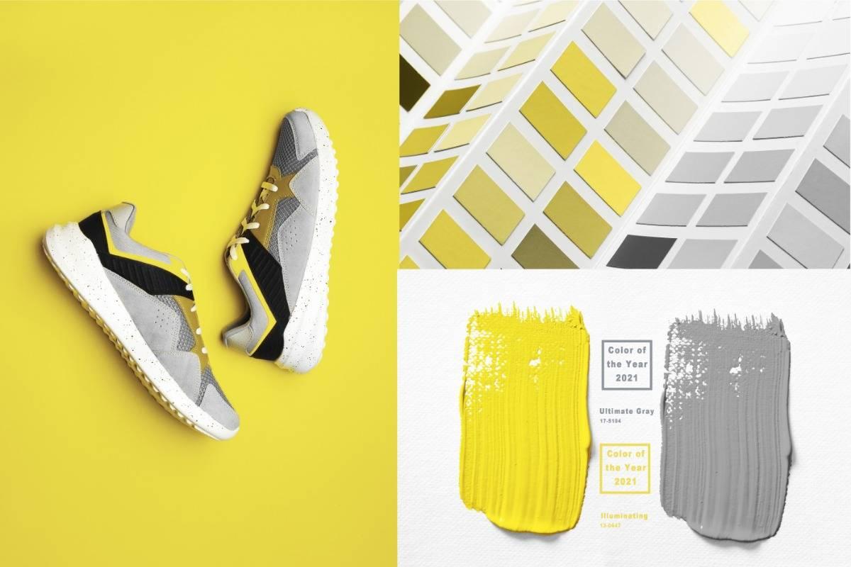 2021, pantone, trendszín, sárga, cipő
