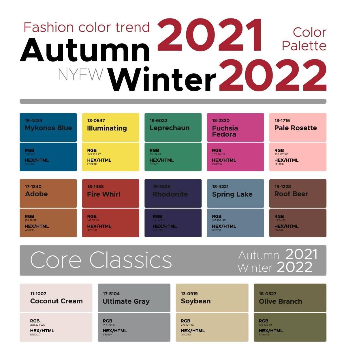 2021, pantone, trendszín