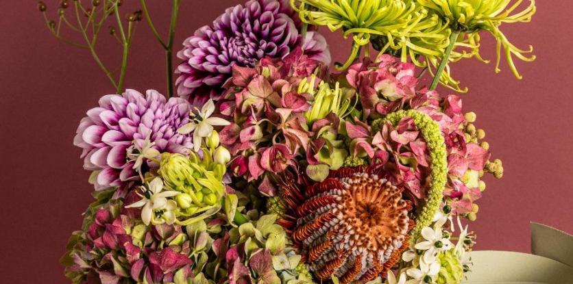 csokor, ősz, virág