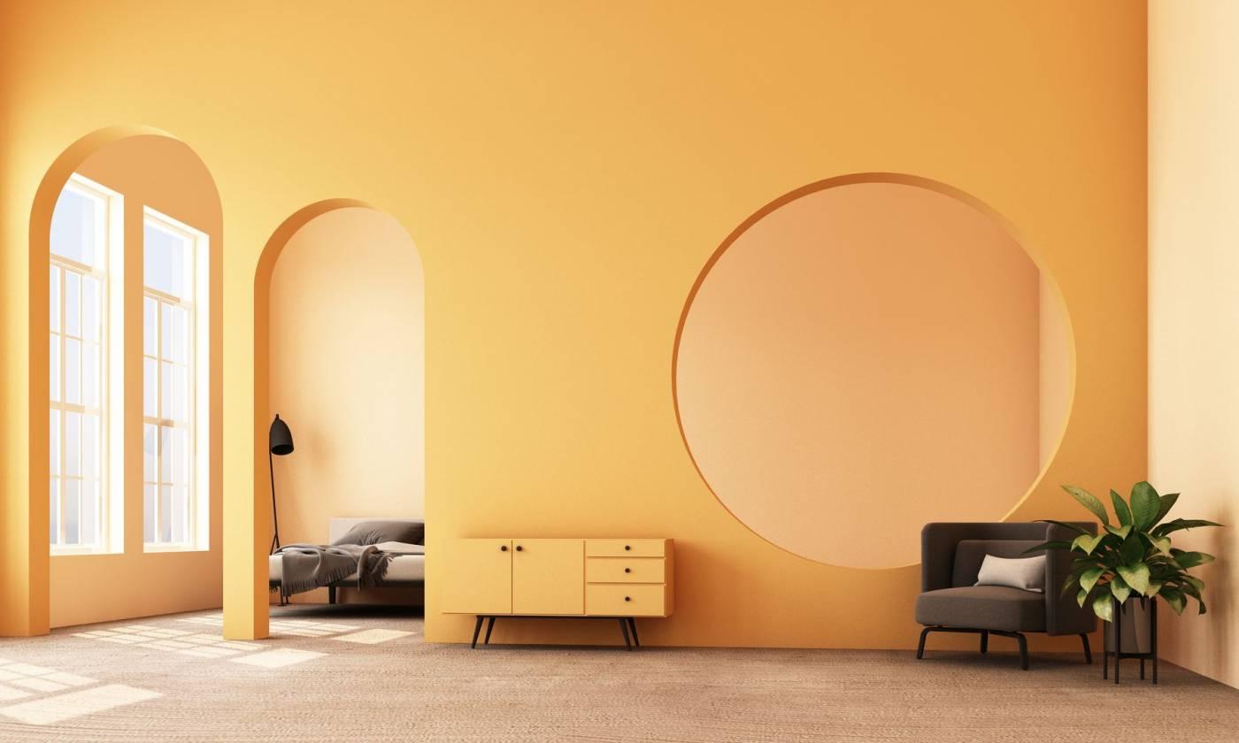 sárga komód, sárga falak